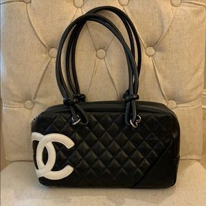 Authentic Chanel Cambon Ligne bowler calfs…